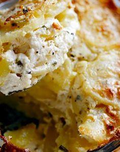 Recettes pas chères : Gratin dauphinois au fromage frais et ciboulette
