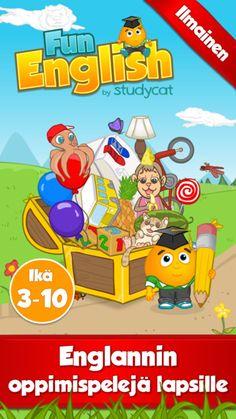 Fun English: Opi englantia - Kielenoppimispelejä 3-10 vuoden ikäisille lapsille, jotka opettelevat lukemaan, puhumaan ja kirjoittamaan oikein kehittäjä: Studycat Limited