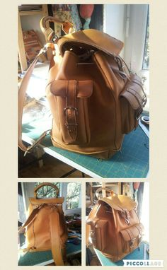 Backpack. All leather....