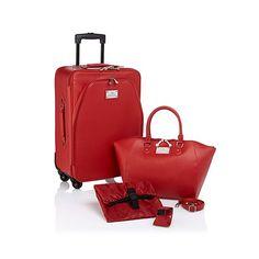 Joy Mangano Carry-On Luggage Set with Handbag...love it in Latte