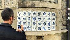 Ocupação Monarca - Lisboa n° II.27 | rua Heliodoro Salgado, Penha de França | Intervenção urbana | Lisboa - Portugal | tinta acrílica sobre papel aplicados com cola de amido sobre parede azulejada | foto: @rvila  #OcupacaoMonarca #OcupaçãoMonarca #IntervencaoUrbana #ArteUrbana #Lisboa #Portugal #Azulejo #Azulejos #FiguraAvulsa #FábioCarvalho #FabioCarvalho #Lisbon #StreetArt #UrbanArt #azulejosdeportugal #azulejoportugues #azulejoportuguês #azulejosportugueses #tile #tiles #InstAzulejos…