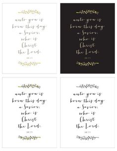 Free Christmas Printables — Unto You Born This Day