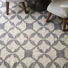 Entry: Platinum Tile Wool Kilim Rug–Special Order | West Elm
