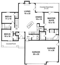 1469 sq ft - Plan No.359641 House Plans by WestHomePlanners.com