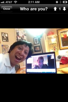 this is john chen and i on a skype video call with john taking an introductory photo of the two of us - India Calling Card From Usa