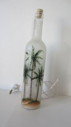 Hand+Painted+Palm+Tree+Lighted++Wine+Bottle+by+EverythingPainted,+$20.00