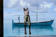 A boy does a back flip into the ocean on Meedhoo Island in Dhaalu Atoll, Maldives. A fishing vessel floats behind him. The tiny island is known for its boat builders and much of its income is generated from this traditional industry.  © UNICEF/Jason Taylor   http://www.unicef.org/photography