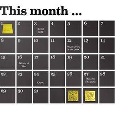 Ferm Living This Month Kalender Wallsticker Sort