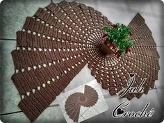 Tapete / Centro de Mesa Espiral  #Juh Crochê - YouTube