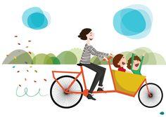 vireta: Familia cargo bike!