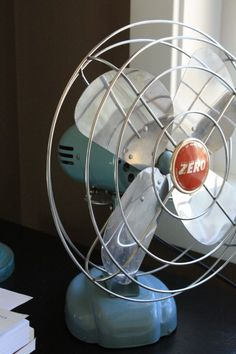 Vintage Zero (Working) Fan for large dresser or end table. Haven't decided which yet...