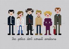 Pixel People Sherlock PDF Crossstitch by weelittlestitches