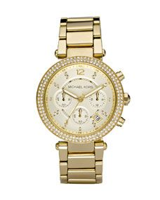 Michael Kors Parker Glitz Watch, Golden MK5354