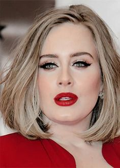 Virtuous and Artistic collection of Colored Lips – My hair and beauty Adele Face, Adele Makeup, Adele Style, Fair Skin, Carolina Herrera, Pretty Woman, Wedding Hairstyles, Adele Hairstyles, Makeup Looks