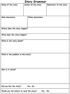 This site has great (and free) printables for reading responses.