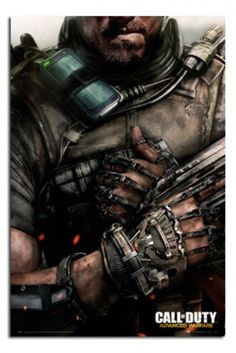 Call of Duty Advanced Warfare - Soldaat Poster Call Of Duty Aw, Call Of Duty Black, Asesins Creed, Playstation, Gaming Posters, Fps Games, Video Game Posters, Advanced Warfare, Geek Games
