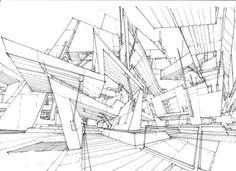 Stefan Davidovici  Many seemingly hand-drawn architectural drawings here: http://architecturedraftsman.blogspot.com