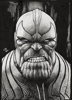 Comic Art - Thanos On Pinterest   Thanos Marvel Guardians Of The Galaxy And Infinity