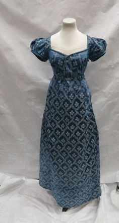 Evening dress c1820. The description notes it has a matching spencer| | V&A Search the Collections