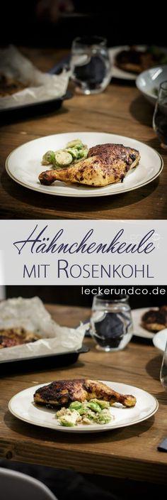 Hähnchenschenkel mit Rosenkohl   low carb deluxe