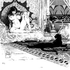 """"""" SHEBA """" is some early Pen & Ink work from Frank ( 1954 ) but was re-released again in 1976. This guy never has his women flat chested, NEVER. And to tell you the truth... I'm Okay with that."""