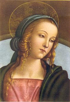 PERUGINO, PIETRO, ca. 1450-1523    Detail from MADONNA ENTHRONED BETWEEN JOHN BAPTIST AND ST. SEBASTIAN, 1493  Florence, Italy :  Galleria Uffizzi
