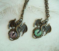 Commande spéciale - 2 Colliers 'Oeil de dragon' Réservés ~ : Collier par nelimae
