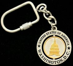 GreatPlacesToYou.com - Washington DC Pewter/Gold Round Keychain, $4.95 (http://www.greatplacestoyou.com/washington-dc-pewter-gold-round-keychain/)
