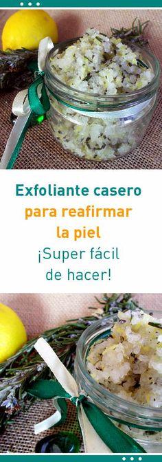 Exfoliante casero para reafirmar la piel #exfoliante #romero #limón #reafirmar #piel #cuerpo #diy