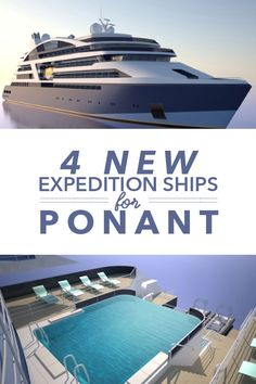 4 New Expedition Ships for PONANT. The first of 4 new ships for Ponant, a French luxury cruise line, is expected to make it's debut in 2018.