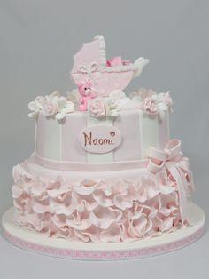Tauftorte Baptim Cake Baby Fondant Kinderwagen