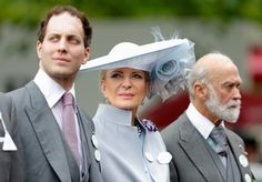 Pin for Later: See All The Best Photos of The Royal Family at Royal Ascot Day 3 Lord Frederick Windsor, Princess Michael of Kent, and Prince Michael of Kent