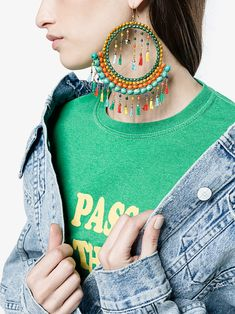 Rosantica Merida tassel and bead earrings