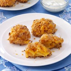 Buffalo Macaroni and Cheese Bites Recipe from Taste of Home -- shared by Ann Donnay of Milton, Massachusetts