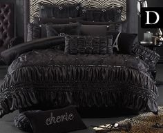 Bedroom Breathtaking-hollywood-glamour-bedding-sets-soprano-black-and-modern-headboard-design-ideas Personable Hollywood Glam Bedding Design Ideas Luxury Bedroom Sets, Luxury Rooms, Luxurious Bedrooms, Glam Bedding, Linen Bedding, Bed Linens, Rustic Bedding, White Ruffle Bedding, Beige Bed Linen