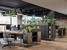Stylish Paris office Stylish Paris office on Behance Corporate Office Design, Open Office Design, Industrial Office Design, Corporate Interiors, Office Interior Design, Office Interiors, Corporate Offices, Office Designs, Office Ceiling Design