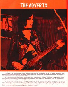 The Adverts: Gaye Advert, NME review, 1977