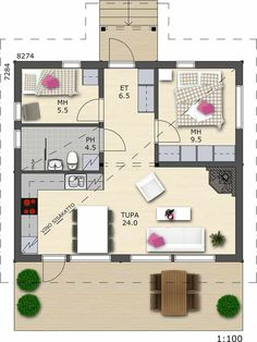 Small House Images, Small House Plans, Guest Cabin, Cottage Plan, Sims 4 Houses, Humble Abode, Future House, Tiny House, Small Spaces