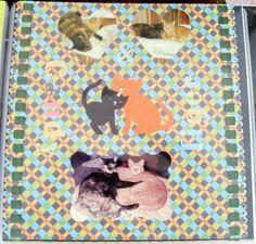 """Candy & Tiger"" Cat scrapbook layout 12x12"