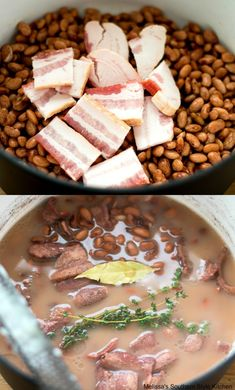 Dry Beans Recipe, Beans In Crockpot, Slow Cooker Beans, Pinto Beans And Sausage Recipe, Pinto Beans And Rice, Crockpot Meals, Southern Pinto Beans Recipe, Pinto Bean Recipes, Beans Recipes