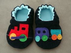 Felt Choo Choo Train Shoes