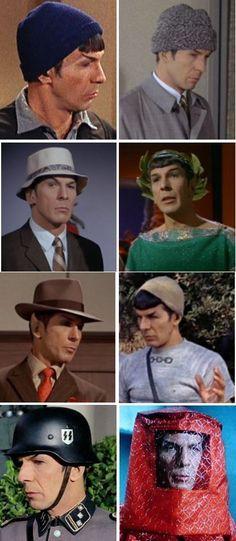 #Star #Trek #Fan #Photo. (Many Hats of Spock).