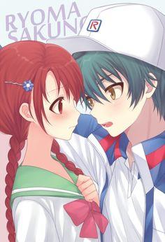Ryosaku Anime Girl Cute, Anime Love, Anime Couples, Cute Couples, Prince Of Tennis Anime, Romance And Love, Image Manga, Perfect Couple, Anime Ships
