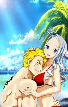 Ohhh Fairy Tail Laxus x Mirajane Fairy Tail Family, Fairy Tail Girls, Fairy Tail Love, Fairy Tail Couples, Fairy Tail Ships, Mirajane Fairy Tail, Fairy Tail Anime, Fanart Manga, Manga Anime