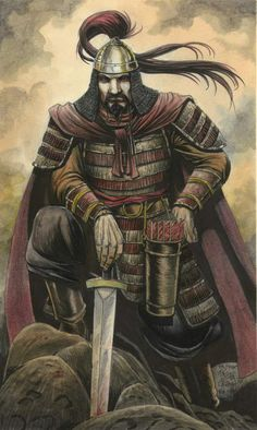 Attila the Hun:---/-433-453 /-- One of history's most feared men, he was known as the Scourge of God; he threatened the Roman empire and was renowned for his cruelty, Hungary