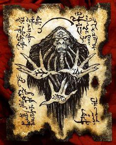 Items similar to NITOCRIS succubus Necronomicon page occult demon magick dark spirit vampire horror on Etsy Hp Lovecraft, Lovecraft Cthulhu, Ange Demon, Demon Art, Larp, Necromancer Book, Necronomicon Lovecraft, Magick Book, Dark Books