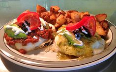 This week's special through Sunday is Divorced Huevos. Two deep-fried corn tortillas topped with eggs (any style) and your choice of black or refried beans and jack cheese. One has salsa verde and the other has our housemade red salsa. Served with sour cream, tomato slice garnish, spudz and toast. #truckee #california #reno #sparks #nevada #squeezein #breakfast #yum #foodporn