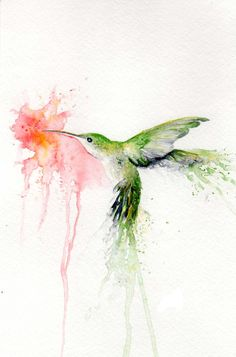 Green watercolor hummingbird smelling a pink hibiscus flower tattoo design Green Watercolor, Watercolor Drawing, Watercolor Animals, Watercolor Flowers, Watercolor Paintings, Watercolor Ideas, Hawaiian Flower Tattoos, Hibiscus Flower Tattoos, Tattoo Flowers