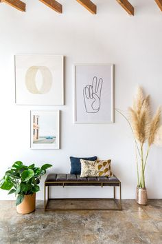 Get inspired by Bohemian Foyer Design photo by AllModern. Wayfair lets you find the designer products in the photo and get ideas from thousands of other Bohemian Foyer Design photos. Home Decor Styles, Cheap Home Decor, Diy Home Decor, Trendy Home Decor, Objet Deco Design, Ideas Habitaciones, Entry Way Design, Home Board, Minimal Decor