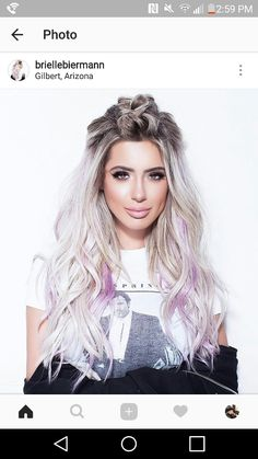 Ash blonde with lavender hair Purple Blonde Hair, Icey Blonde, Pastel Purple Hair, Platinum Blonde Hair, Blonde Balayage, Lavender Hair Highlights, Cool Hair Color, Hair Colors, Mom Hairstyles